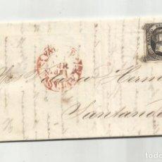 Sellos: CIRCULADA Y ESCRITA 1851 DE VALLADOLID A SANTANDER. Lote 287312228