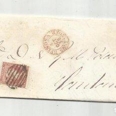 Sellos: CIRCULADA Y ESCRITA NEGOCIOS TRIGO 1858 DE REINOSA A SANTANDER. Lote 287313143