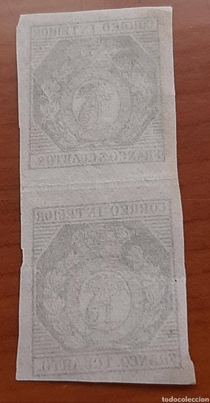 Sellos: Sello de 1 cuarto y 3 cuartos de bronze falso , raro, - Foto 2 - 287392793