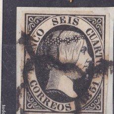 Sellos: BB18- CLÁSICOS EDIFIL 6 NEGRO INTENSO. SOBRE FRAGMENTO. Lote 287399278