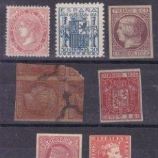 Sellos: FC3-198- LOTE 7 FALSOS FILATELICOS / ISABEL II Y ESCUDO GRANADA. Lote 287631263