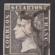 Sellos: ESPAÑA, 1850 EDIFIL Nº 1A, 6 CU. NEGRO,. Lote 288013703