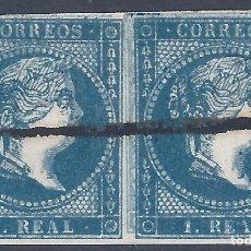 Sellos: EDIFIL 49E ISABEL II. AÑO 1855 (VARIEDAD...DOBLE IMPRESIÓN). V. CATÁLOGO ESPECIALIZADO: 170 €. LUJO.. Lote 288157028
