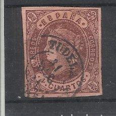 Sellos: ISABEL II FECHADOR TUDELA NAVARRA. Lote 288443008