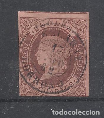 ISABEL II FECHADOR EZCARAY LOGROÑO (Sellos - España - Isabel II de 1.850 a 1.869 - Usados)