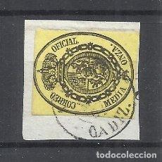 Sellos: ESCUDO DE ESPAÑA FECHADOR ALGECIRAS CADIZ SOBRE FRAGMENTO. Lote 288500378