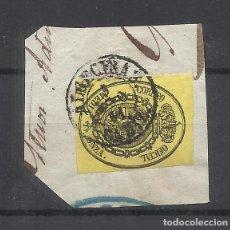Sellos: ESCUDO DE ESPAÑA FECHADOR ALGECIRAS CADIZ SOBRE FRAGMENTO. Lote 288500488