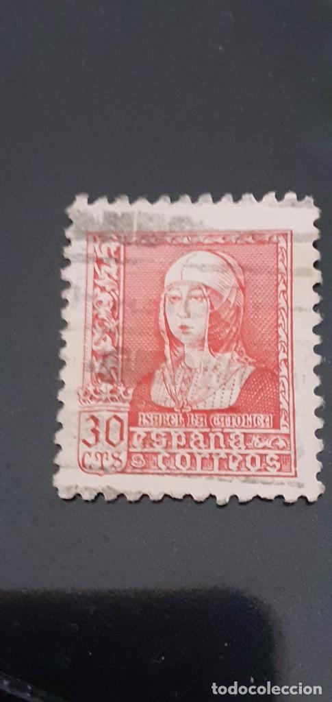 SPAGNA SERIE: QUEEN ISABEL THE CATHOLIC (1939) NUM. CATALOGO: MICHEL ES 815 NUMERO STAMP ES 676 YVE (Sellos - España - Isabel II de 1.850 a 1.869 - Usados)