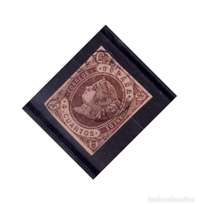 AÑO 1862 EDIFIL 58 4C ISABEL II MATASELLOS CARTAGENA MURCIA TIPO II (Sellos - España - Isabel II de 1.850 a 1.869 - Usados)