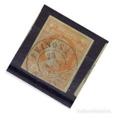 Sellos: AÑO 1860 EDIFIL 52 4C ISABEL II MATASELLOS REINOSA SANTANDER TIPO II. Lote 288539728