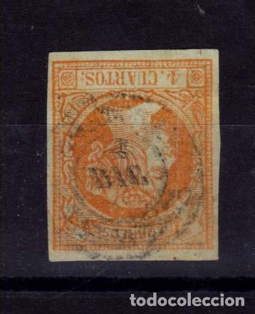 AÑO 1860 EDIFIL 52 4C ISABEL II MATASELLOS TORTOSA TAARRAGONA TIPO II (Sellos - España - Isabel II de 1.850 a 1.869 - Usados)