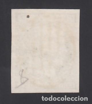 Sellos: ESPAÑA, 1852 EDIFIL Nº 15, 5 r. verde, Mat. Parrilla color Azul. ( Pieza de Lujo.) - Foto 2 - 288560288