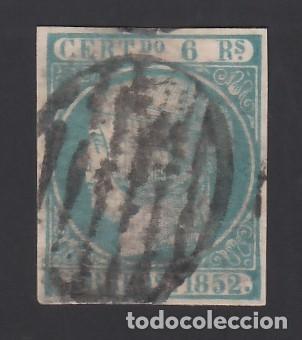ESPAÑA, 1852 EDIFIL Nº 16, 6 R. AZUL VERDOSO (Sellos - España - Isabel II de 1.850 a 1.869 - Usados)