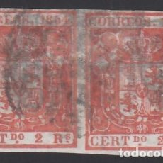 Sellos: ESPAÑA, 1854 EDIFIL Nº 25, 2 R. ROJO, PAREJA.. Lote 288571313