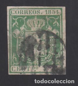 ESPAÑA, 1854 EDIFIL Nº 26, 5 R. VERDE, (Sellos - España - Isabel II de 1.850 a 1.869 - Usados)