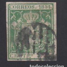 Sellos: ESPAÑA, 1854 EDIFIL Nº 26, 5 R. VERDE,. Lote 288572733
