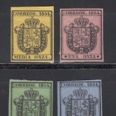 Sellos: ESPAÑA, 1854 EDIFIL Nº 28 / 31, ESCUDO DE ESPAÑA, SERIE DE 4 VALORES.. Lote 288573908
