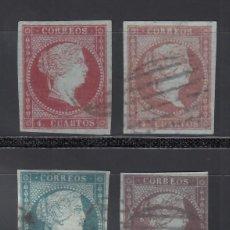 Sellos: ESPAÑA, 1855 EDIFIL Nº 40, 40A, 41, 42,. Lote 288653993