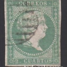 Sellos: ESPAÑA, 1855 EDIFIL Nº 43, 2 CU. VERDE,. Lote 288655143