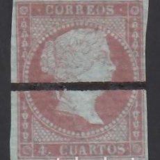 "Sellos: ESPAÑA, 1855 EDIFIL Nº 40M, ""MUESTRA"", LÍNEA HORIZONTAL DE TINTA.. Lote 288722318"