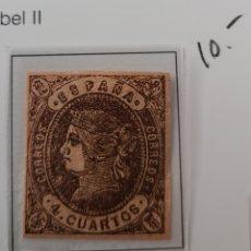 Sellos: SELLO DE ESPAÑA 1862 ISABEL II 4 CUARTOS EDIFIL 58 NUEVO. Lote 289628258