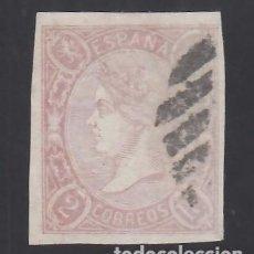 Sellos: ESPAÑA, 1865 EDIFIL Nº 73, 2 R. LILA.. Lote 289760608
