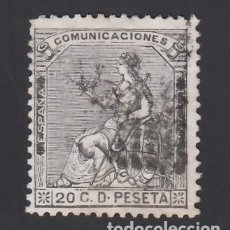 Sellos: ESPAÑA, 1873 EDIFIL Nº 134, 20 C. NEGRO GRISÁCEO,. Lote 289765508