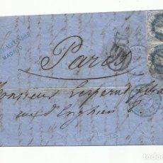 Sellos: CIRCULADA Y ESCRITA 1862 DE MADRID A PARIS EDIFIL 59. Lote 289869313
