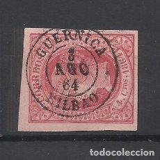 Sellos: ISABEL II FECHADOR GUERNICA BILBAO. Lote 292234998
