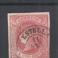 Sellos: ISABEL II FECHADOR ESTELLA NAVARRA. Lote 292344553