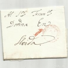 Sellos: CIRCULADA Y ESCRITA EN CATALAN COLLITA ORDI POQUES OLIVES 1838 DE SANT MARTÍ A LLEIDA POR TARREGA. Lote 292521898