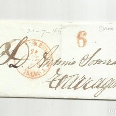 Sellos: ENVUELTA CIRCULADA 1845 DE MORA DE EBRE A TARRAGONA. Lote 293415378