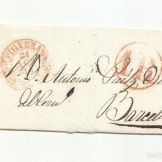 Sellos: ENVUELTA CIRCULADA 1846 DE FIGUERES A BARCELONA. Lote 293422523