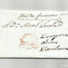 Sellos: CIRCULADA Y ESCRITA EN CATALAN NOTA DE LES COLLITES 1838 DE LLEIDA A BARCELONA POR ZARAGOZA. Lote 293462783