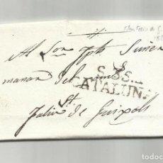 Francobolli: CIRCULADA Y ESCRITA EN CATALAN 1826 DE BLANES A SANT FELIU DE GUIXOLS. Lote 293537563