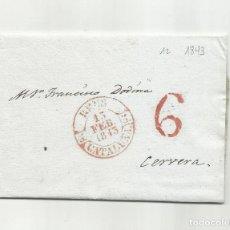 Sellos: CIRCULADA Y ESCRITA EN CATALAN 1843 DE REUS TARRAGONA A CERVERA LLEIDA LERIDA. Lote 293539098