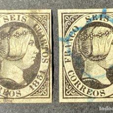 Sellos: ESPAÑA - 1851 - ISABEL II - EDIFIL 6(•) BONITOS SELLOS. Lote 293894343