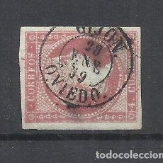Sellos: ISABEL II FECHADOR GIJON OVIEDO. Lote 294435328