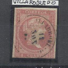 Sellos: ISABEL II FECHADOR VILLAROBLEDO ALBACETE. Lote 294435653