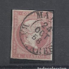 Sellos: ISABEL II FECHADOR MAHON BALEARES. Lote 294436103