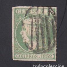 Sellos: ESPAÑA, 1852 EDIFIL Nº 15, 5 R. VERDE. Lote 294850413
