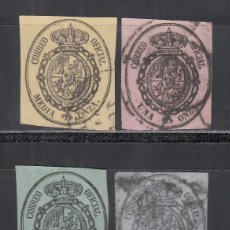 Sellos: ESPAÑA, 1855 EDIFIL Nº 35 / 38, ESCUDO DE ESPAÑA, SERIE DE 4 VALORES.. Lote 294958113