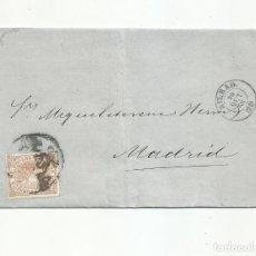 Sellos: CIRCULADA 1868 DE BILBAO A MADRID RUEDA CARRETA 20. Lote 295807078