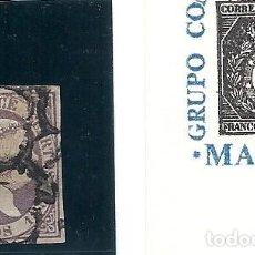 Sellos: ESPAÑA.ISABEL II.AÑO 1851./ 12 CUARTOS LILA.. Lote 296068483