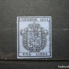 Sellos: ESPAÑA 1854 ISABEL II EDIFIL 31 MH* LEER!!!. Lote 296565468