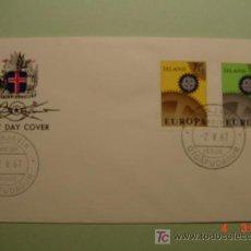 Sellos: 1955 ISLANDIA ISLAND 1967 TEMA EUROPA SOBRE DIA EMISION SPD FDC MAS EN MI TIENDA COSAS&CURIOSAS. Lote 6182253