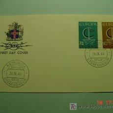 Sellos: 4718 ISLANDIA ISLAND TEMA EUROPA FDC - SPD 1966 - MIRA MAS EN COSAS&CURIOSAS. Lote 5799139