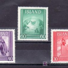 Sellos: ISLANDIA SH 2 SELLOS PROCEDENTE DE HOJA SIN CHARNELA, LEIFR ERICSON, . Lote 9796786
