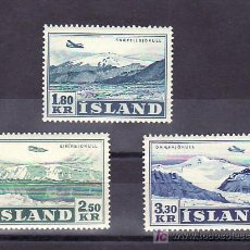 Sellos: ISLANDIA AEREO 27/9 SIN CHARNELA, AVION, VUELO SOBRE GLACIAR, . Lote 11826817