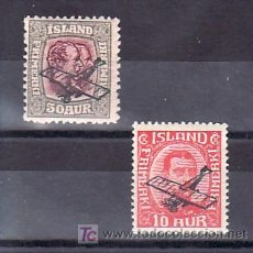 Sellos: ISLANDIA AEREO 1/2 CON CHARNELA, AVION, SOBRECARGADO, . Lote 11875485